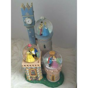 Disney Princess Clock Tower Triple Snowglobe